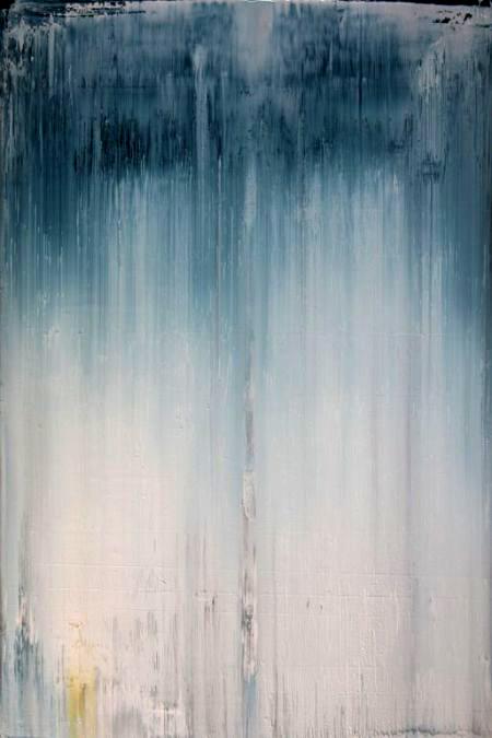 """""""Cascada azul"""", Acrílico 2016."""