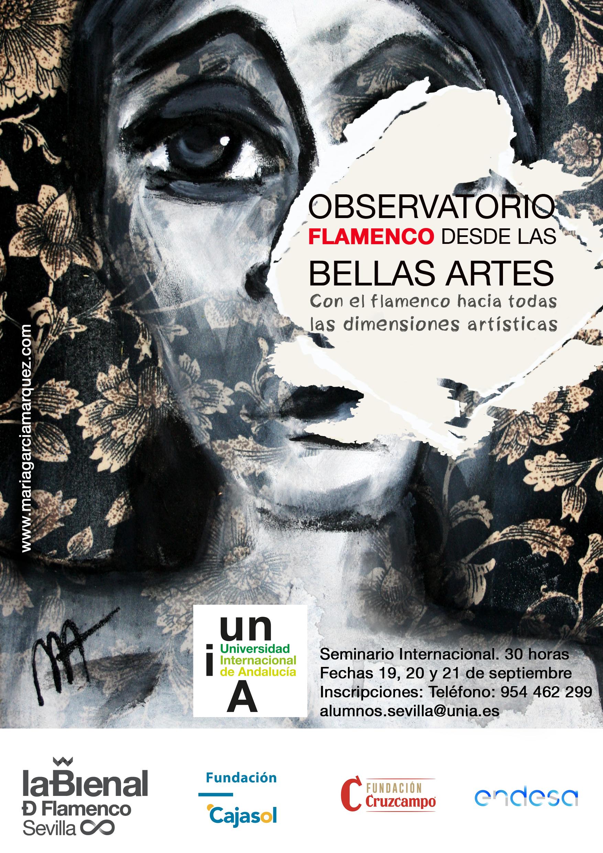Cartel I edición  del observatorio flamenco desde las bellas artes