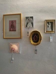 """Parte de mi trabajo en exposición colectiva, """"a 4 crió sobre"""" la mujer, de 4 ilustradoras"""