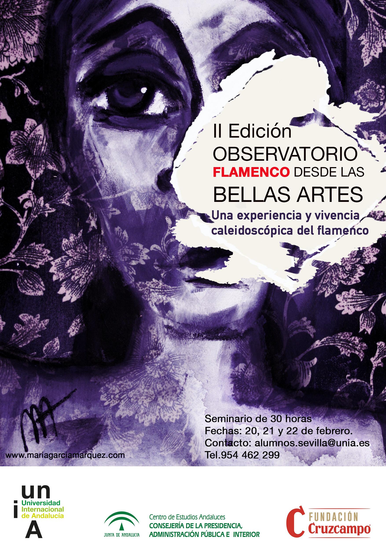 cartel para la II edición observatorio flamenco desde las bellas artes 2020